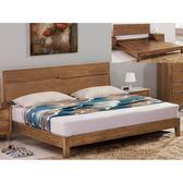 床架 床台 FB-061-1 米亞淺胡桃5尺雙人床 (不含床墊) 【大眾家居舘】