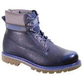 CAT  男款 真皮 橡膠底 耐磨 高筒 登山靴 戶外休閒鞋 -海軍藍 CA716716
