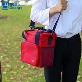 野餐包 牛津布飯盒袋保溫包戶外野餐包防水大容量手提便當包野餐包  晶彩生活 晶彩生活