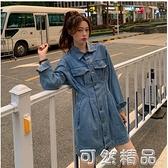 法式復古長袖牛仔裙洋裝秋裝年新款女收腰lisa同款裙子潮 可然精品