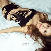 性感情趣內衣女士露乳連體網衣夜店包臀短裙大碼鏤空誘惑制服套裝 艾尚旗艦店