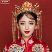 秀禾服頭飾新款古裝頭飾結婚中式新娘紅色流蘇發飾套裝配飾品 至簡元素