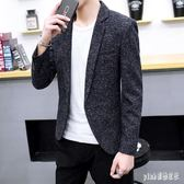 中大尺碼 男士休閒西裝外套秋季新款韓版潮流修身小西服男帥氣秋裝上衣 js18128『Pink領袖衣社』