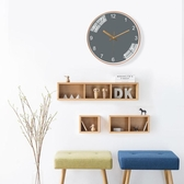 掛鐘客廳純色經典百搭灰色掛鐘錶創意時鐘ins網紅鐘錶靜音石英鐘 ATF