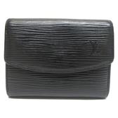 LV 黑色EPI水波紋名片夾零錢包 CoinCase M62202 【BRAND OFF】