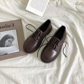 新品娃娃鞋森系小皮鞋女韓版百搭學生圓頭軟妹單鞋系帶復古日系 芊墨左岸