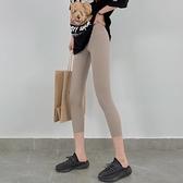 內搭褲 鯊魚皮七分打底褲女外穿夏薄款高腰提臀收腹芭比褲彈力緊身瑜伽褲【八折搶購】