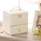 化妝箱手提專業多層木質抽屜式日本化妝品收...