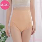 塑褲 3D立體剪裁 (M-3L) 收腹提臀超高腰包臀機能蕾絲束褲 -膚色【Daima黛瑪】