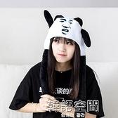 網紅兔耳朵會動寶寶帽子可愛超萌嘟嘟恐龍熊貓頭套女搞怪笑抖音啦 萬聖節