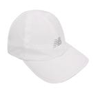 New Balance 帽子 NB Logo Jogging Cap 白 黑 男女款 老帽 慢跑 反光設計 運動休閒 【ACS】 LAH13002WT