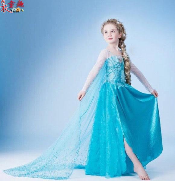 衣童趣 ♥冰雪奇緣公主洋裝 安娜洋裝長裙 角色扮演 紗裙 表演服 【隨機禮服快速出貨區】