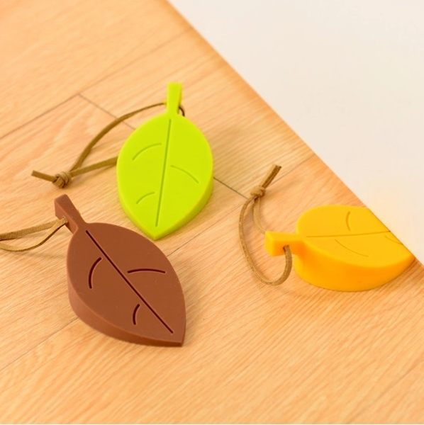 ♚MY COLOR♚創意樹葉帶繩門擋 居家 門片 防夾手 立體 可掛 門塞 幼兒 保護 防撞 防風 【Q160】
