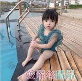 兒童泳衣女童夏裝2019女寶寶泳衣連體衣洋氣公主泳服潮1-3歲 愛麗絲