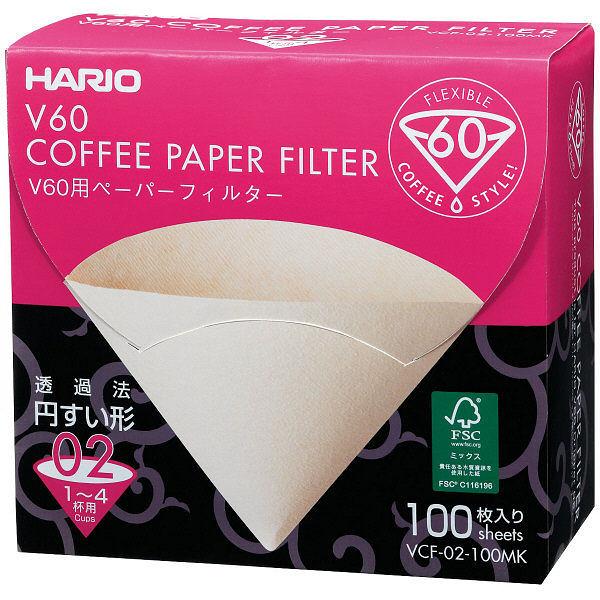 HARIO 日本製 V60咖啡濾紙02M 1袋(100張) VCF-02-100MK