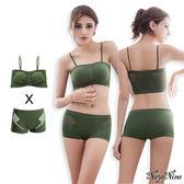 運動內衣褲背心 無鋼圈內衣平口小可愛 S-XL(軍綠) 《SV6054》HappyLife
