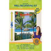 牆壁裝飾5入-度假天堂