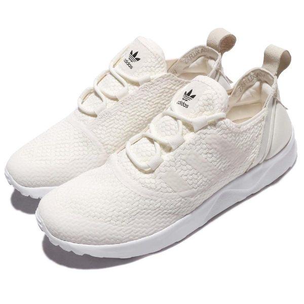 【海外限定】adidas 休閒慢跑鞋 ZX Flux ADV Virtue W 米白 女鞋【PUMP306】 CG4092