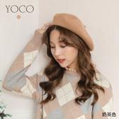 東京著衣【YOCO】韓妞必備百搭磨毛貝蕾帽(191939)
