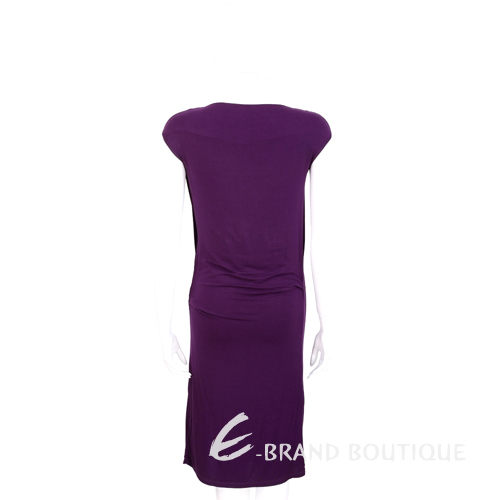 PLEIN SUD FAYCAL AMOR 紫色垂墜剪裁設計短袖洋裝 1420095-83