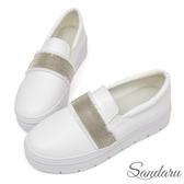 訂製鞋 全真皮寬版串珠厚底休閒鞋-白色下單區
