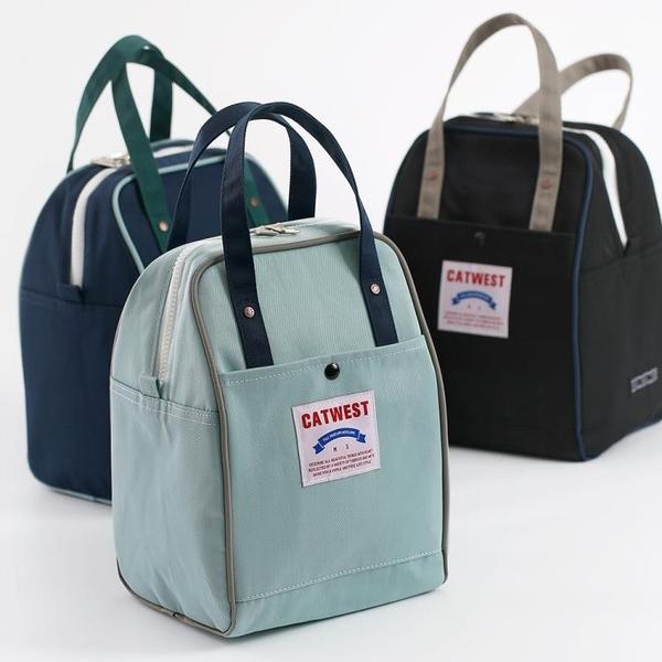 貓西保溫鋁箔加厚保溫包飯盒包手提防水大容量便當袋帶飯午餐包 夢幻小鎮