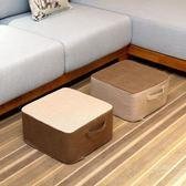 亞麻可拆洗加厚坐墊布藝蒲團棉麻飄窗榻榻米增高加厚坐墊地板坐墩