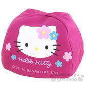 〔小禮堂〕Hello Kitty 安全帽內襯《桃紅.大臉.花朵》防塵衛生避免異味 4713902-11525
