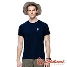 【wildland 荒野】男 彈性輕量扒線圓領短袖排汗衫『經典藍』0A91632 運動 露營 登山 吸濕 排汗 快乾