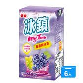 泰山冰鎮葡萄鮮冰茶250ml x 6【愛買】