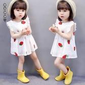 女童連身裙夏裝 兒童公主洋裝裙小童洋氣2時尚3潮女寶寶裙子夏款1-4歲LXY7238[黑色妹妹]