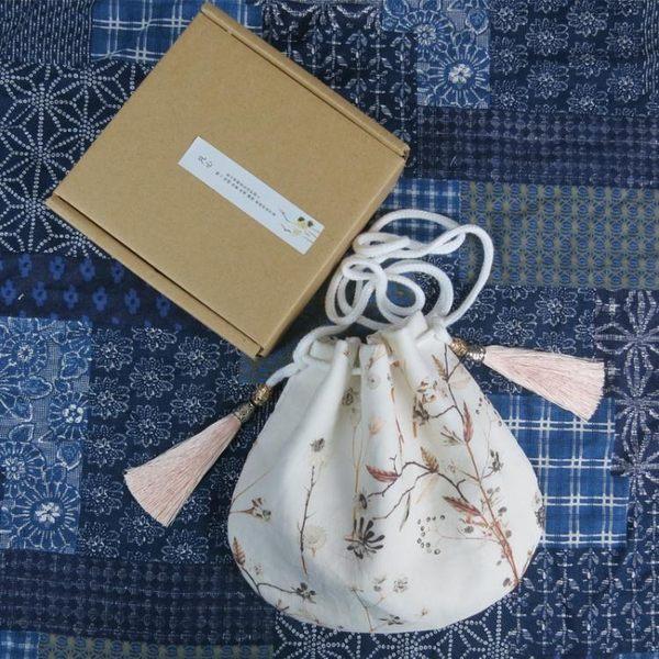 繡花包 中國風斜挎仙女小荷包漢服百搭單肩袋古風手機袋包 伊韓時尚