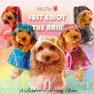 【培菓平價寵物網】Ailuspet》透明寵物狗狗雨衣顏色隨機