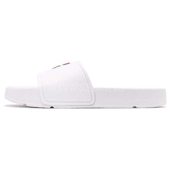 FILA 拖鞋 S316S 白 藍 復古 涼拖鞋 韓系 情侶鞋 經典LOGO 男鞋 女鞋【PUMP306】 4S316S123