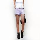 77涵推薦-SISJEANS-隨性刷破色染牛仔短褲(薰衣草紫)【SISWCB001】