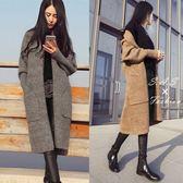 針織外套 大衣外套 口袋針織毛衣外套 毛衣外套 長版針織外套 長版毛衣外套