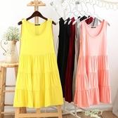 洋裝 蛋糕裙短袖大擺中長版連身裙洋裝寬鬆大尺碼孕婦裙打底背心裙短裙 【快速出貨】