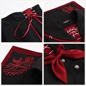 日系JK制服學生校班學院風軟妹COS暗黑水手中間服長短袖不良套裝
