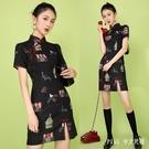 中國風改良式旗袍 2020春夏新款少女修...