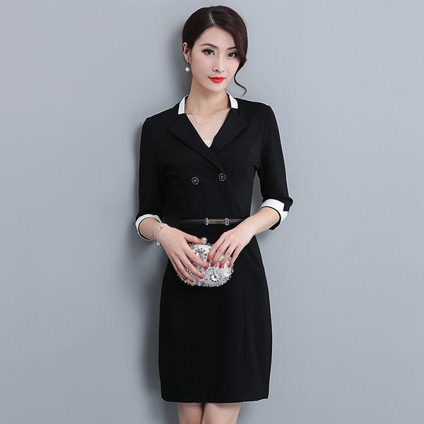 性感女神洋裝 秋冬季新款韓版女裝時尚氣質V領露肩長袖修身顯瘦包臀洋裝 ZJ4622【大尺碼女王】