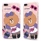 88柑仔店~GARMMA LINE Friends CHOCO iPhone 6 Plus 5.5吋-空壓氣墊防摔保護軟殼