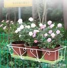 花架 簡約陽台花架鐵藝懸掛式欄桿花架長方形花盆架陽台種菜多肉花架子 圖拉斯3C百貨