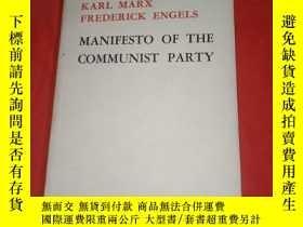 二手書博民逛書店MANIFESTO罕見OF THE COMMUNIST PARTY《馬克思恩格斯共產黨宣言》英文版Y15089