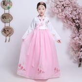 女童韓服朝鮮兒童韓服少數民族風韓國刺繡花表演出舞臺蹈服裝-黑色地帶