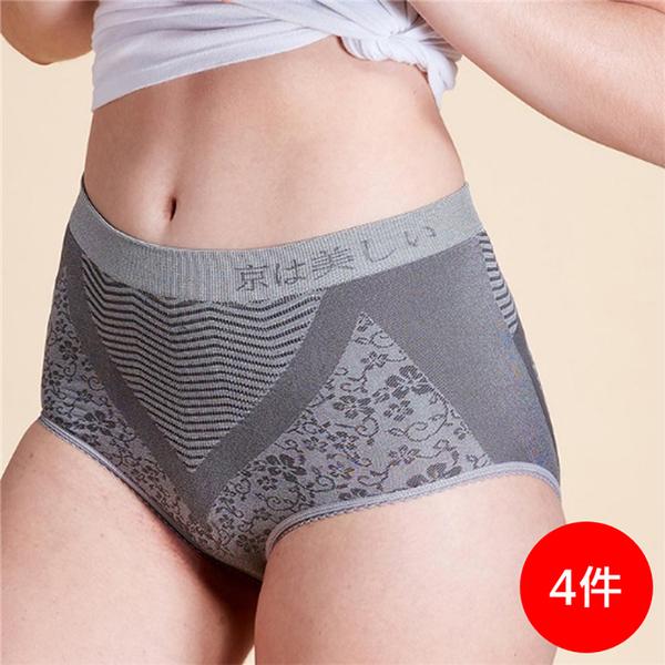 獨家優惠【穿好褲,銀在這】竹炭逆時能量健康提臀褲(女三角) 三件組再贈一件