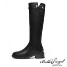 長靴 側V口百搭側拉鍊騎士靴(黑)*BalletAngel【18-B666bk】【現+預】