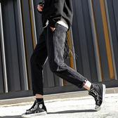 韓版寬鬆加絨加厚燈芯絨哈倫褲女冬季九分褲小腳休閒褲蘿卜褲     歐韓時代