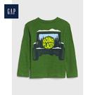 Gap男幼童可愛恐龍圖案圓領長袖套頭T恤522850-墨綠色
