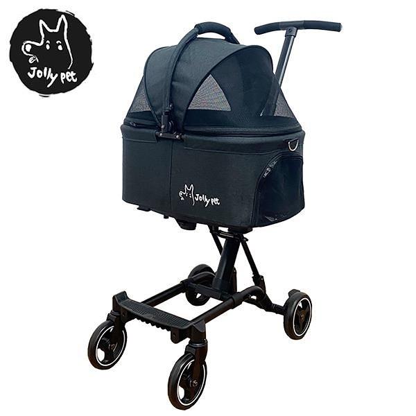 【南紡購物中心】英國《Jolly》幼兒/寵物輕便型兩用推車-黑色