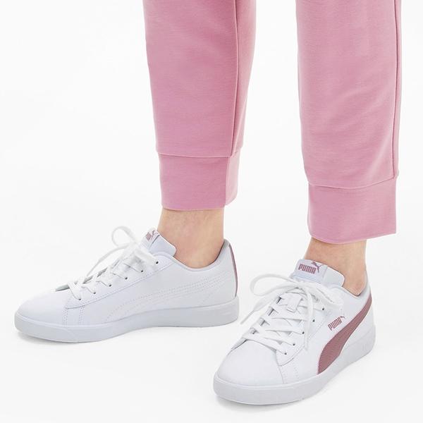 PUMA UP 女鞋 休閒 基本款 復古 皮革 白 粉【運動世界】37303404